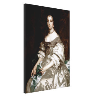 Catherine of Braganza by Sir Peter Lely Canvas Print