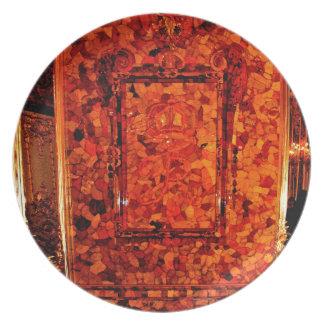 Catherine's Great Palace Tsarskoye Selo Amber Room Dinner Plate