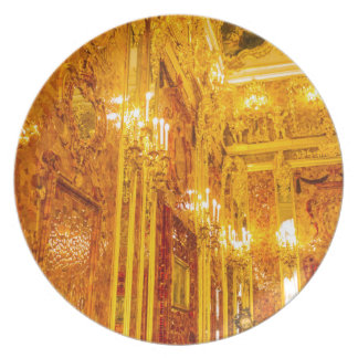 Catherine's Great Palace Tsarskoye Selo Amber Room Dinner Plates