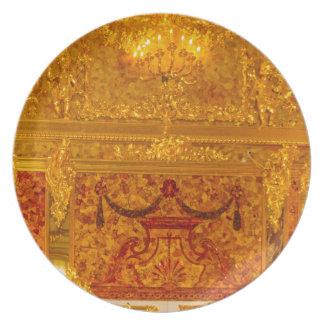 Catherine's Great Palace Tsarskoye Selo Amber Room Plates