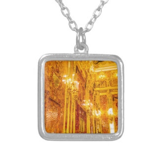 Catherine's Great Palace Tsarskoye Selo Amber Room Silver Plated Necklace