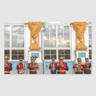 Catherine's Great Palace Tsarskoye Selo Brass Band Rectangular Sticker