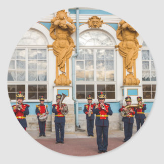 Catherine's Great Palace Tsarskoye Selo Brass Band Round Sticker