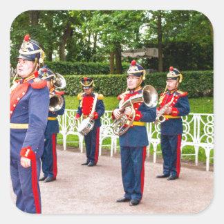 Catherine's Great Palace Tsarskoye Selo Brass Band Square Sticker