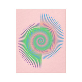 Catherine Wheel Spiral Canvas Print