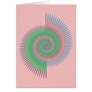 Catherine Wheel Spiral Card
