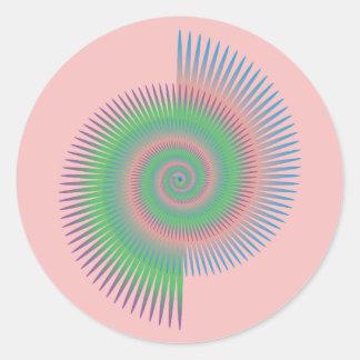 Catherine Wheel Spiral Classic Round Sticker