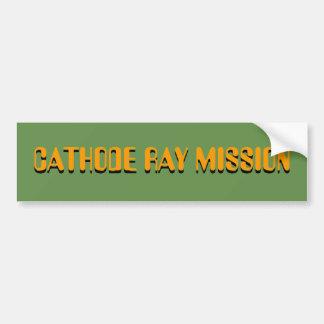 CATHODE RAY MISSION STICKER