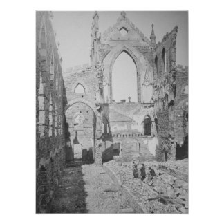 Catholic Cathedral Ruins During Civil War, 1865 Poster