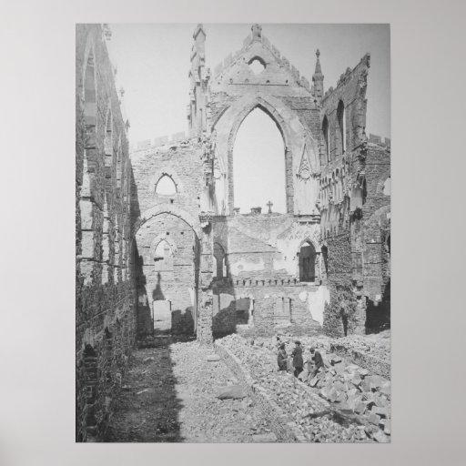 Catholic Cathedral Ruins During Civil War, 1865 Poster