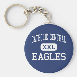 Catholic Central - Eagles - High - Redford Basic Round Button Key Ring
