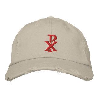 Catholic Chi Rho Embroidered Hat