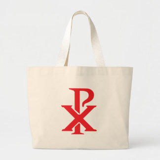 Catholic Chi Rho Jumbo Tote Bag