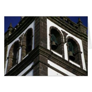 Catholic church tower greeting card