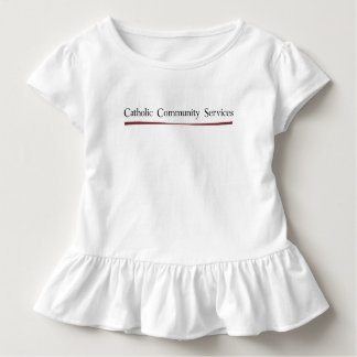 Catholic Community Services Baby Girl Ruffle Tee