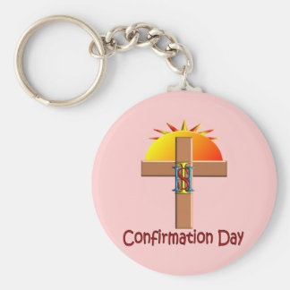 Catholic Confirmation Day for Kids Basic Round Button Key Ring