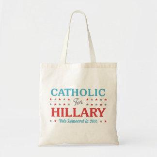 Catholic for Hillary Budget Tote Bag