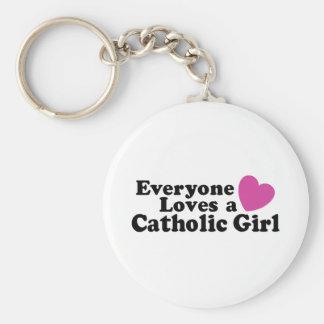Catholic Girl Keychain
