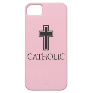"""Catholic"" in Pink iPhone 5 Covers"