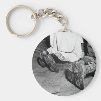 Catholic Mass is held for two_War Image Basic Round Button Key Ring