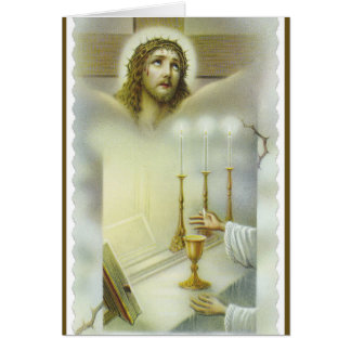 Catholic Mass Jesus Altar Offering Card