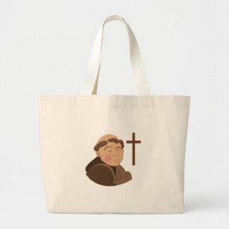 Catholic Monk Jumbo Tote Bag