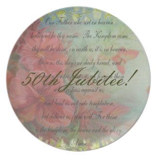 Catholic Nun 50th Jubilee Dinner Plate