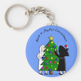 Catholic Nun Art Christmas Cards & Gifts Basic Round Button Key Ring