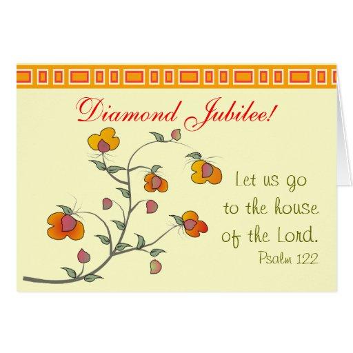 Catholic Nun Diamond Jubilee Card