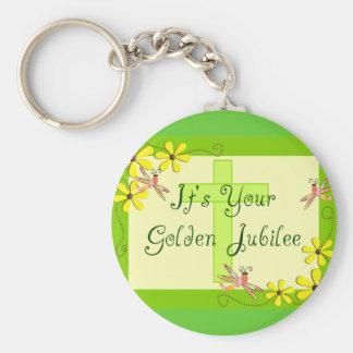Catholic Nun Golden Jubilee Cards Basic Round Button Key Ring