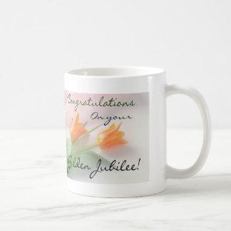 "Catholic Nun ""Golden Jubilee"" Cards & Gifts Classic White Coffee Mug"