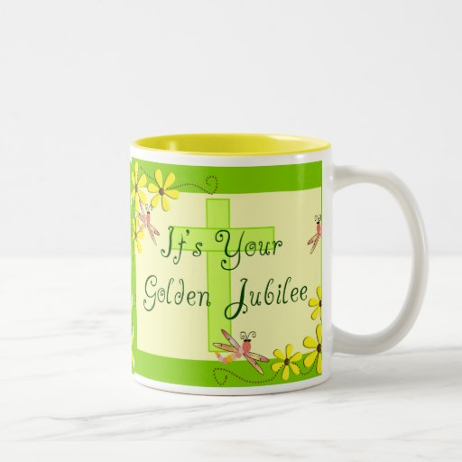 Catholic Nun Golden Jubilee Cards Coffee Mug