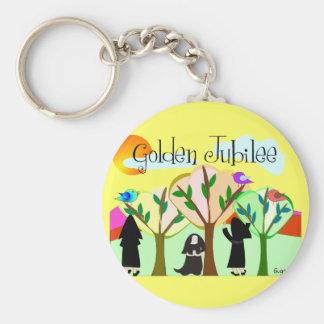 Catholic Nun Golden Jubilee Gifts Basic Round Button Key Ring