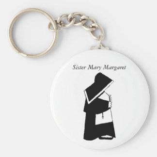 Catholic Nun in Habit Custom Sister Name Key Ring
