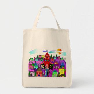 "Catholic Nuns Art ""Heading to Church"" Grocery Tote Bag"