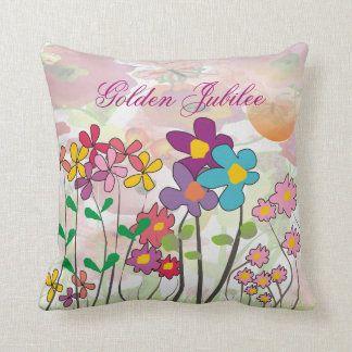 Catholic Nuns Golden 50th  Jubilee Pillow Floral