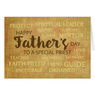 Catholic Priest Father's Day, Qualities of Father Card
