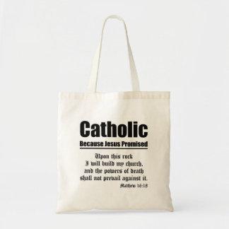Catholic Promise Budget Tote Bag