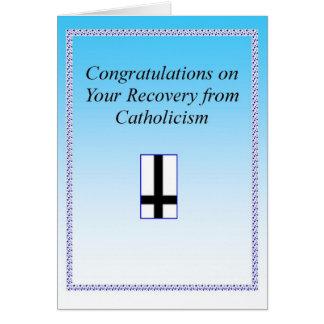 Catholic Recovery Congrats Card