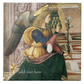 Catholic Saint Archangel Gabriel Add Verse Large Square Tile