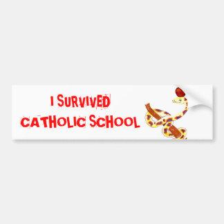 Catholic School Survivor Bumper Sticker