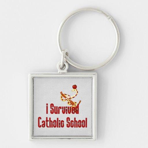 Catholic School Survivor Keychain