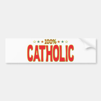 Catholic Star Tag Bumper Stickers