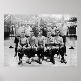 Catholic University Basketball Team 1923 Poster