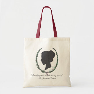 Catholic Women's Study logo tote with quote