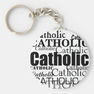 Catholic Word Basic Round Button Key Ring