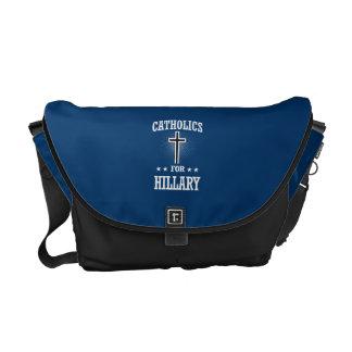 CATHOLICS FOR HILLARY MESSENGER BAGS