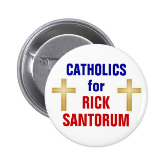 Catholics for Santorum 6 Cm Round Badge