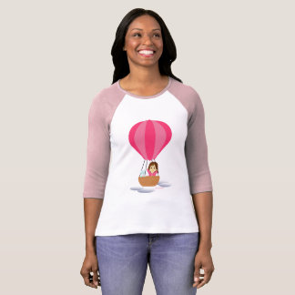 """Cathy and the Cat flies in globe "" T-Shirt"