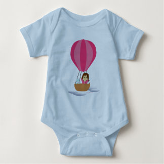 """""""Cathy and the Cat"""" in globe Baby Bodysuit"""